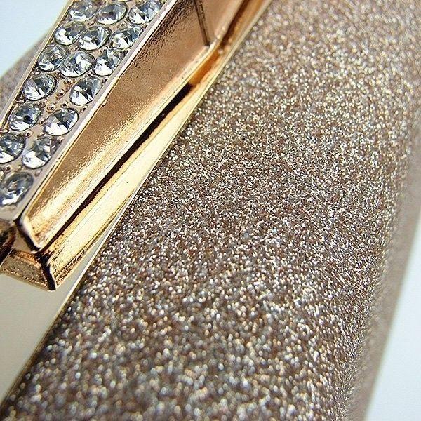45b081f12d5e Бежевая маленькая вечерняя сумка-клатч с блестками — купить в ...