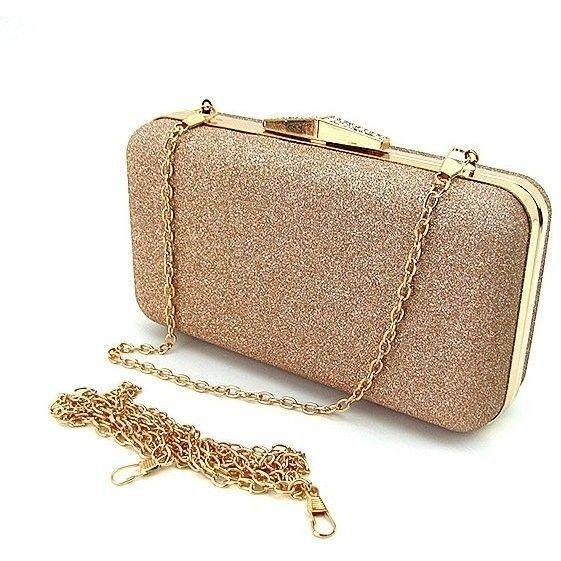 3ef518633b17 Бежевая маленькая вечерняя сумка-клатч с блестками — купить в ...
