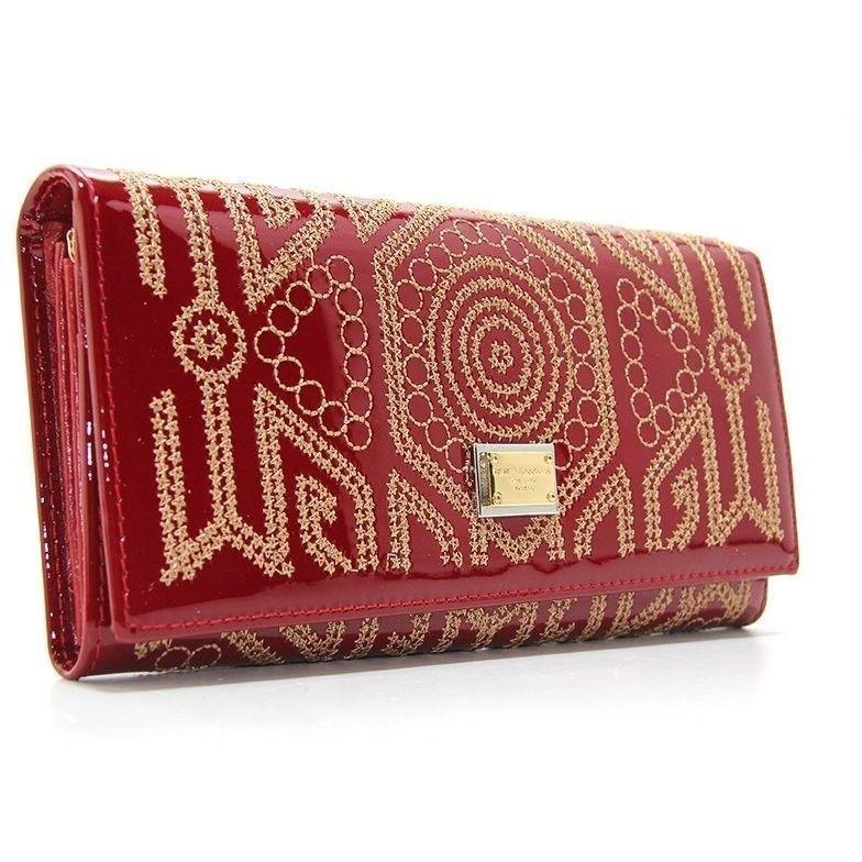 de06da1e4ef3 Красный кожаный кошелек dg-60101 red с орнаментом. Описание ·  Характеристики · Отзывы