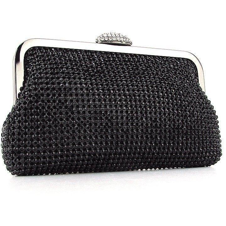 921de164ef8b Вечерний черный клатч-кошелек из камней — купить в интернет магазине ...