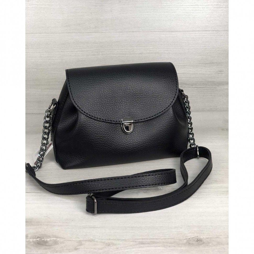 0d42995fbc89 Черная молодежная сумка 56304 кросс боди — купить в интернет ...