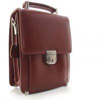 752fc3f8e808 Барсетка мужская вертикальная коричневая с замком — купить в ...