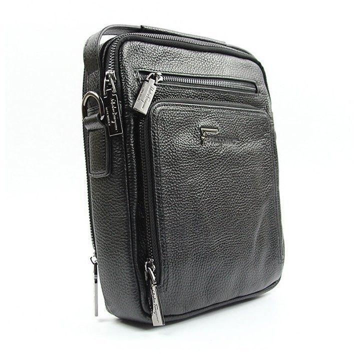 67352d462969 Мужская кожаная сумка через плечо Salvatore Ferragamo — купить в ...