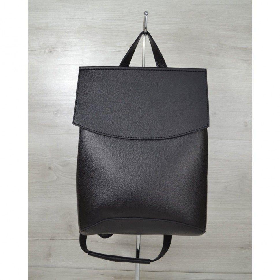 8e82e7932f9f Черный модный рюкзак трансформер на плечо — купить в интернет ...